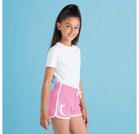 Pantalón corto rosa junior