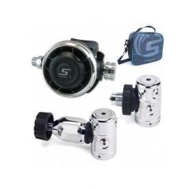 Pack Regulador Tifon X DIN + octopus + manometro